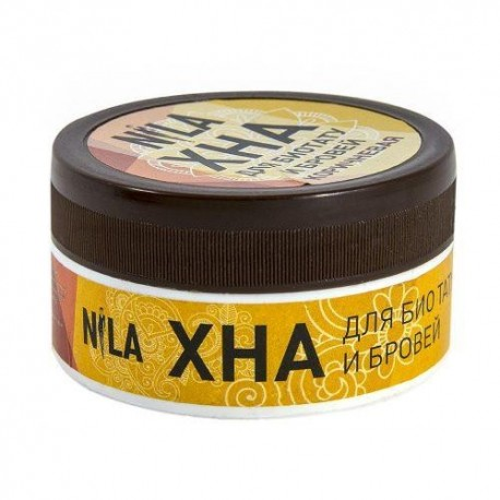 Хна для бровей NILA кофе(темно-коричневая) 20гр