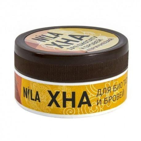 Хна для бровей NILA шоколад (светло-коричневая) 20гр