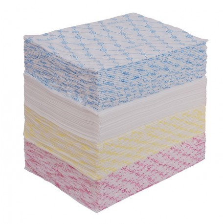 Полотенце 45*90 цветное спанлейс White line  50шт