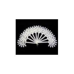 Палитра-веер ромашка 10шт на кольце (молочная)