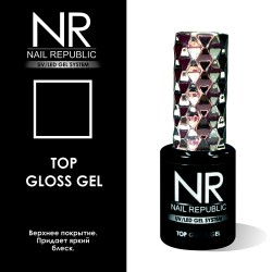 Верхнее покрытие с липким слоем Nail Republic Top Gloss Gel (10 мл.)