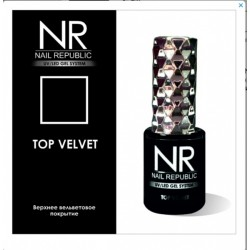 Верхнее вельветовое покрытие для гель-лака без липкого слоя Nail Republic Top Velvet (10 мл.)