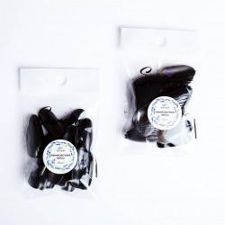 """Тренировочные типсы """"Serebro collection"""", цвет черный (50 шт)"""