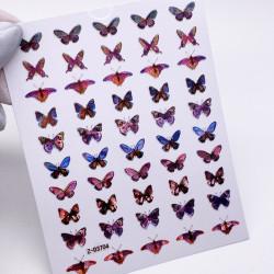 Наклейки Бабочки 3D ZOO